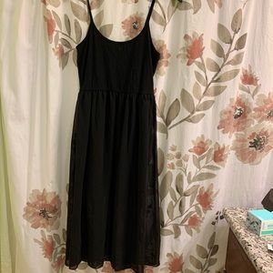F21: Maxi Body Con/Flowy Sheer Dress